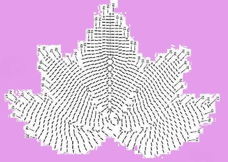Вязание из пакетов мастер класс: Схема кленового листа