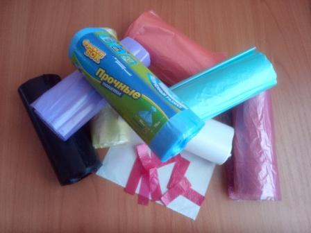 Вязание крючком из пакетов для мусора -  пакеты для мусора