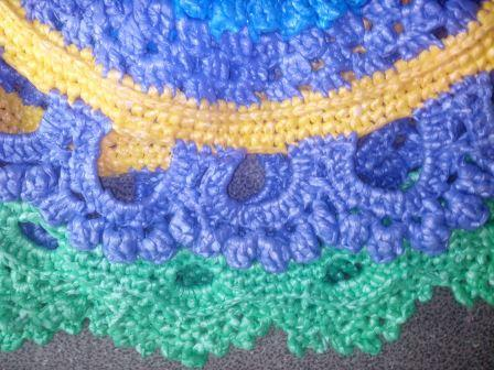 Вязание ковриков из пакетов крючком: коврик № 2
