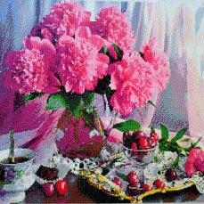 Пионы цветы лета. Картина алмазная россыпь