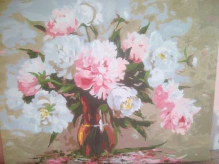 Пионы цветы лета. Люблю рисовать картины с пионами.