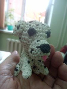 Маленький щенок далматинец - вот такой получился Дружок